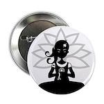 """Yoga Girl Silhouette 2.25"""" Button (10 Pk)"""