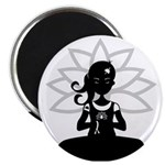 Yoga Girl Silhouette Magnet
