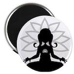 """Yoga Girl Silhouette 2.25"""" Magnet (100 Pk)"""