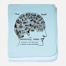 know thyself phrenology head baby blanket