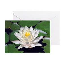 White Lotus Horizontal Greeting Card
