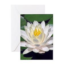 White Lotus Vertical Greeting Card
