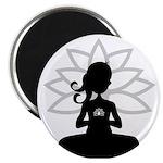 """Yoga Girl Silhouette 2.25"""" Magnet (10 Pk)"""