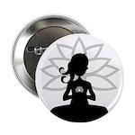 """Yoga Girl Silhouette 2.25"""" Button"""