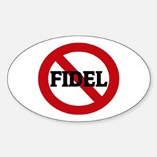 Anti-Fidel Oval Decal