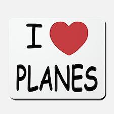 I heart planes Mousepad