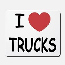 I heart trucks Mousepad