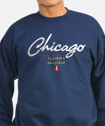 Chicago Script Sweatshirt (dark)