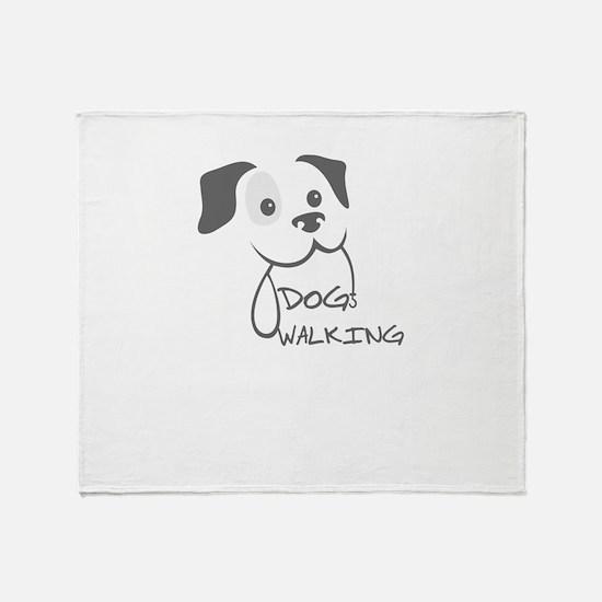 dog walking Throw Blanket