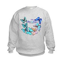 Blue Morphos Butterfly Sweatshirt