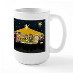 Cute Nativity Scenen Christmas Coffee Mug (Large)