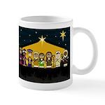 Cute Nativity Scene Christmas Coffee Mug (Small)