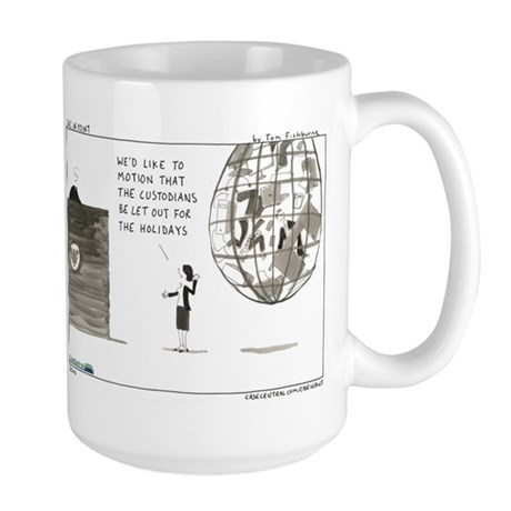 Out for the Holidays Large Mug