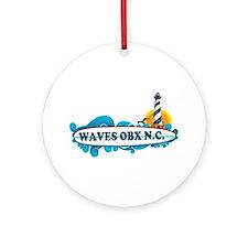 Waves NC - Surf Design Ornament (Round)