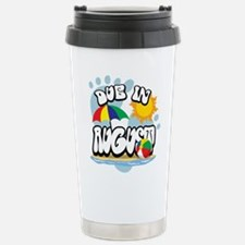 Due In August Travel Mug