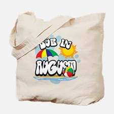 Due In August Tote Bag