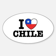 I Love Chile Sticker (Oval)