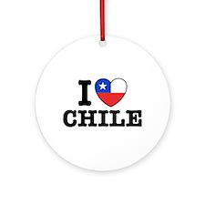 I Love Chile Ornament (Round)