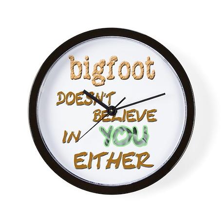 Bigfoot Doesn't . . . Wall Clock