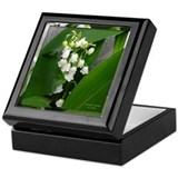 Lily of the valley Square Keepsake Boxes