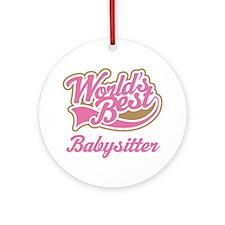 Cute Babysitter Ornament (Round)