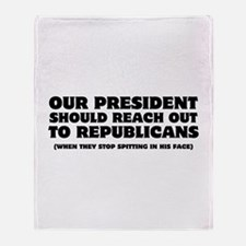 Obama Reach Out Throw Blanket