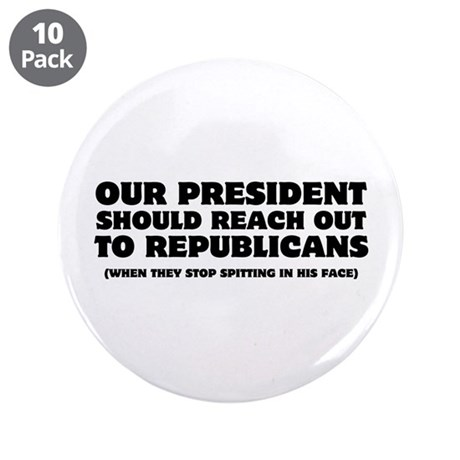 """Obama Reach Out 3.5"""" Button (10 pack)"""
