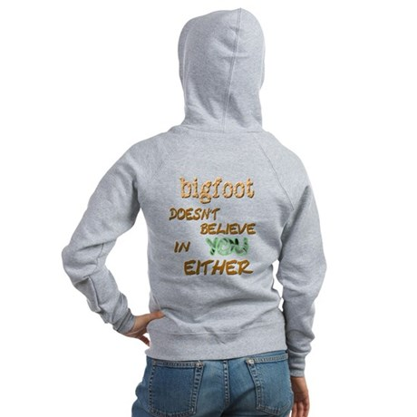 Bigfoot Doesn't . . . Women's Zip Hoodie