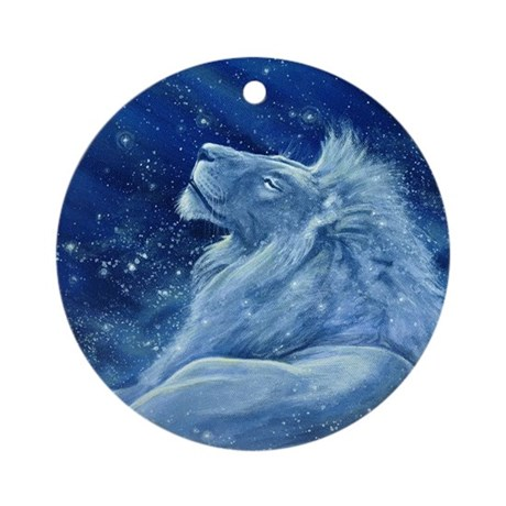 Star Lion Ornament (Round)