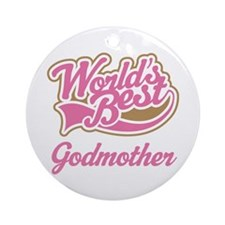 Worlds Best Godmother Ornament (Round)