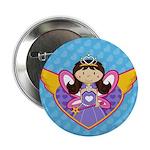"""Adorable Fairytale Princess 2.25"""" Button (10"""