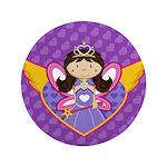 """Adorable Fairytale Princess 3.5"""" Button"""
