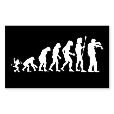 Evolution Undead Sticker (Rectangle)