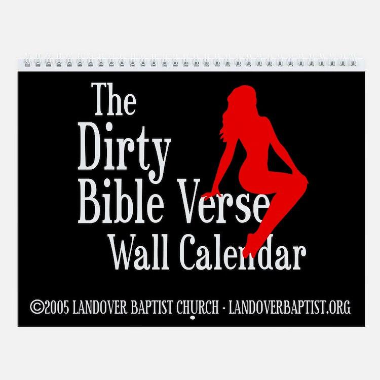The Dirty Bible Verse Wall Calendar