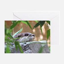 Resting Otter Horizontal Greeting Card