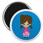 "Cute Little Geisha Girl 2.25"" Magnet (100 Pk)"