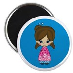 "Cute Little Geisha Girl 2.25"" Magnet (10 Pk)"