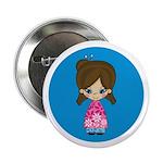 """Cute Little Geisha Girl 2.25"""" Button (10 Pk)"""