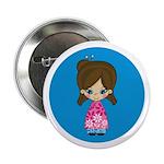 """Cute Little Geisha Girl 2.25"""" Button"""