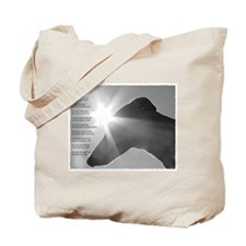 Greyhound Poem Tote Bag