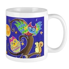 Night time owl and friends Mug