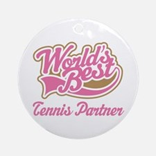 Tennis Partner Ornament (Round)