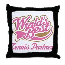 Tennis Partner Throw Pillow