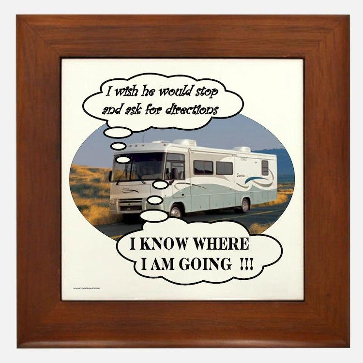 Ask For Directions !! Framed Tile