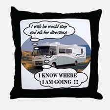 Ask For Directions !! Throw Pillow