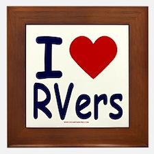 I Love (Heart) RVers Framed Tile