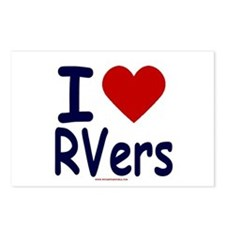 I Love (Heart) RVers Postcards (Package of 8)