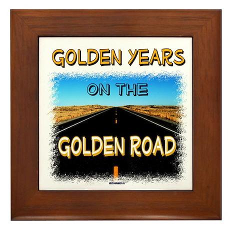 RV Retirement - Golden Years, Framed Tile