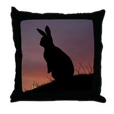 Sunrise Bunny Throw Pillow