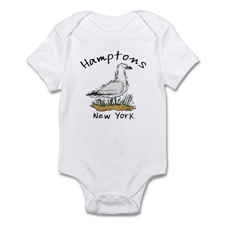 Hamptons NY Seagull Infant Bodysuit